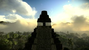 Ancient pyramid in the forest footage stock illustration
