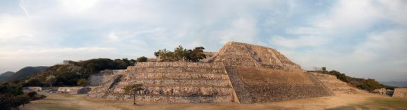 Ancient Pyramid in Xochicalco, Mexico Stock Image