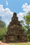 Ancient pyramidal Buddhist temple Stock Images