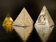 Ancient pyramids royalty free stock images