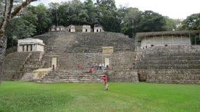 Ancient pyramids in Bonampak, Mexico Stock Photos