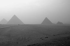 The ancient pyramids of Egypt Stock Images