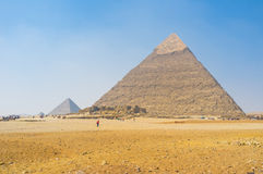 The ancient pyramids Stock Photography