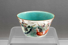 Ancient Qing Dynasty porcelain cup Royalty Free Stock Photography