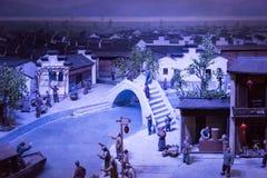 Ancient Qinhuai model Stock Photos