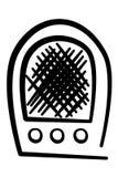 Ancient radio Royalty Free Stock Image