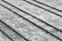 Ancient railway tracks Stock Photos
