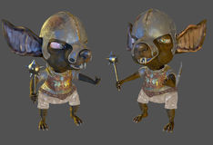Ancient rat warrior 3d illustration Royalty Free Stock Photos