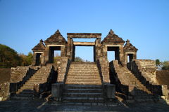 Ancient Ratu Boko Castle. A Ruined Ancient Castle and Temple near Jogjakarta Royalty Free Stock Image