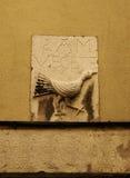 Ancient raven and Saint Vincent inscription in Lisbon Royalty Free Stock Images