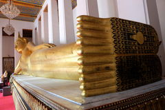 Ancient Reclining Buddha Statue. Royalty Free Stock Images