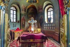 Ancient Rectory Saint Michael Vydubytsky Monastery Kiev Ukraine. Ancient Mosaics Icons Rectory Saint Michael Vydubytsky Monastery Kiev Ukraine.  Saint Michael's Royalty Free Stock Photography