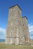 Ancient Reculver Towers. This photo shows the ancient Reculver towers, quite a tourist attraction Royalty Free Stock Image