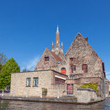 Ancient red brick building in Bruges Stock Photography