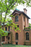 Ancient red brick building Royalty Free Stock Photo