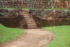 Ancient red brick staircase made. Sri Lanka, Polonnaruwa Stock Photo