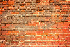 Ancient red brick wall. Royalty Free Stock Photography