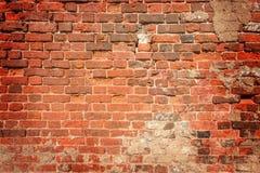 Ancient red brick wall. Royalty Free Stock Image