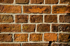 Ancient red bricks wall Royalty Free Stock Images
