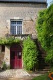 Ancient red door Royalty Free Stock Photos