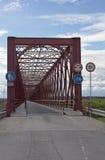 Ancient red iron bridge Royalty Free Stock Photo
