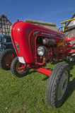 Ancient red porsche tractor details Royalty Free Stock Photos
