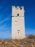 Ancient red stones tower. Apulia. Royalty Free Stock Photos