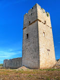 Ancient Red Stones Tower of Giovinazzo. Apulia. Royalty Free Stock Photos