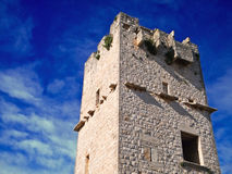 Ancient Red Stones Tower of Giovinazzo. Apulia. Stock Image