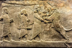 Ancient relief of Assyrian Royalty Free Stock Photo