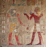Ancient relief at Deir el-Bahri Stock Photos