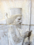 Ancient relief. In Persepolis, Iran Stock Photography