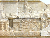 Ancient relief. In Persepolis, Iran Royalty Free Stock Photography