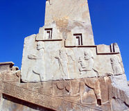 Ancient Relief sculptures. Ancient relief sculpture in Persepolis Royalty Free Stock Photography