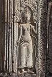Ancient relief in Angor wat Royalty Free Stock Photo