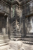 Ancient relief in Angor wat  Stock Images
