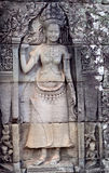 Ancient reliefs in Angkor Thom, Cambodia Stock Images