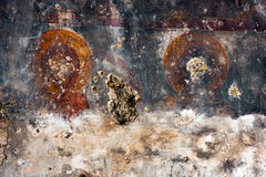 Ancient religious fresco, wall background Royalty Free Stock Image