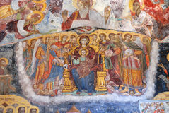 Ancient Religious Paintings in Christianity. Religious Paintings at the Interior Walls of famous Sumela Monastery in Trabzon Turkey Stock Images