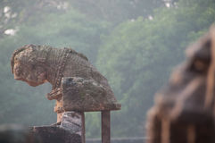 Ancient remainings of a temple. Royalty Free Stock Photos