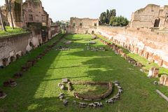 Remains of the ancient stadium of Domitian, Rome, Italy, Europe stock photos