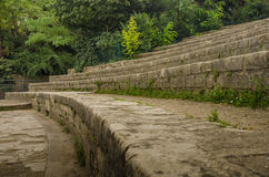 Ancient remains of Arenes de Lutece in Paris Royalty Free Stock Photography
