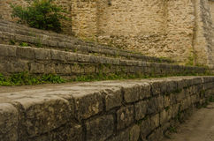 Ancient remains of Arenes de Lutece in Paris Royalty Free Stock Photos