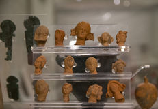 Ancient remains of Carthage civilization. In the museum of Carthage, Tunis, Tunisia Stock Photos