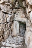 Entrance to the cistern in Mycenae, Greece, Europe stock photography