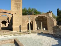 The ancient remains of a Roman city of Lazio - Italy 0158 Royalty Free Stock Photography