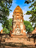 Ancient remains in Thailand. Image of buddha and ancient remains in Thailand Royalty Free Stock Image