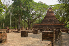 Ancient remains of Wat Ratchaburana temple, Phichit, Thailand.  Royalty Free Stock Photos