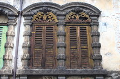 Ancient renaissance windows Royalty Free Stock Photos