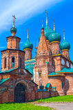 Ancient repairing church of red brick Stock Photography